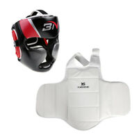 Boxing Protector Chest and Head Guard Set Kick Boxing Sparring Protection