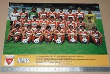 CLIPPING POSTER FOOTBALL 1980-1981 NIMES OLYMPIQUE CROCOS JEAN-BOUIN COSTIERES