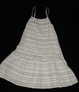 EUC Gap Kids Girls CANTINA Black & White Striped Maxi Dress Size L 10