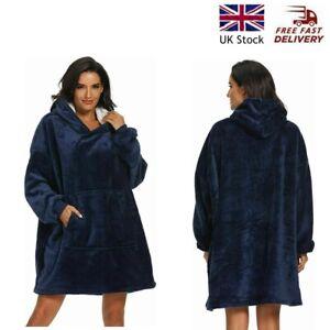 Oversized Wearable Hoodie Blanket Ultra Plush Sherpa Giant Blanket Sweatshirt UK