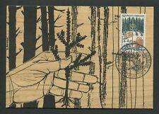 FRANCE MK 1965 FLORA WALD FOREST TREE BAUM BÄUME CARTE MAXIMUM CARD MC CM d8819