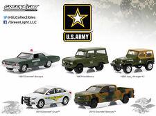 GREENLIGHT 1:64 MOTOR WORLD DIORAMA - U.S. ARMY BASE VEHICLES SET Diecast Cars