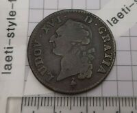G05210 louis xvi sol 1791 a paris belle qualité monnaie royale