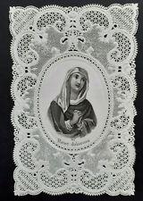 Image pieuse dentelle canivet holy card lace fin XIXè Vierge Marie Dolorosa