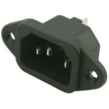 IEC MALE Chassis Mains Kettle Socket mounting 240V PLUG 10A CABLE