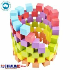 Wooden Blocks (100 Pieces, 6-Colours) Stacking Game Toy for Baby and toddlers