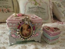 New ListingSet of Two - Marie Antoinette Box and Heart Box