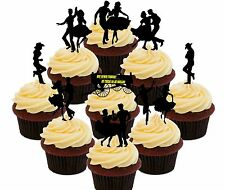 Line Dancing / Square Dance - 36 Edible Cupcake Toppers Fairy Cake Decorations