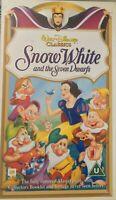 Walt Disney's Snow White Masterpiece Collection VHS Rare UK Version Very Rare