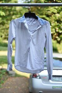 Ovation Long Sleeved English Show Shirt, Blue Detailing, Size 32