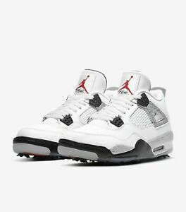 Jordan 4 Retro White Cement G Golf Shoes Size 10.5 - Confirmed Order - Fast Ship