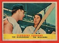 1958 Topps #321 Ted Williams VG WRINKLE MARKED Boston Red Sox FREE SHIPPING