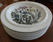 Seven (7) Arabia Finland Flora Pattern Porcelain Dinner Plates