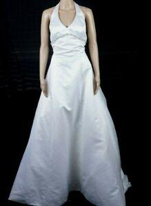 Lotus Orient Halter Wedding dress size 12 Bustled Back Rhinestone Accents