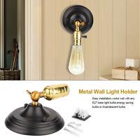 E27 Lampada da Parete Muro Applique Vintage RETRÒ Illuminazione in Metallo
