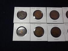 8 Canadian Large Cents, 1902, 04, 05, 06, 07, 08, 09, 10 (cs)