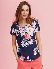Joules Womens Nessa Print Jersey T shirt 14 in NAVY WHITSTABLE FLORAL Size 14