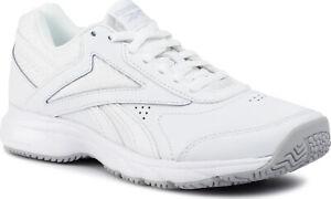 Reebok Women Walking Shoes Work and Cushion 4.0 Slip Oil Resistant White FU7351