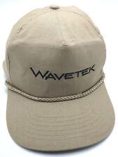 WAVETEK ( ELECTRONIC TEST EQUIPMENT )  beige adjustable cap / hat