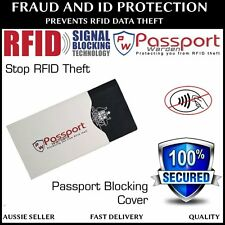 PW RFID Blocking Passport Sleeve Protector Secure Shield Cover Travel Anti Theft