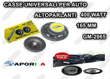 2 ALTOPARLANTI KIT AUTO 165 MM 2 VIE 400WATT CASSE 400W WOOFER SPEAKER GM2065 40
