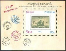 "Laos 1987 ""CAPEX '87""/Sailing Ships/Boats/Nautical/Transport/S-on-S 1v m/s b8025"