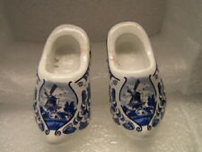 Holland Netherlands Wooden Shoes Blue Delft Miniature Collectible Souvenir 2.5""
