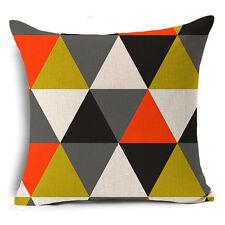Bohemian Ethnic Geometric Cotton Linen Pillow Case Square Cushion Cover #11 Black Waves