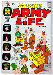 Sad Sack's Army Life Parade #9 in VG+ condition a 1965 Harvey Silver Age comic