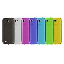 Samsung Galaxy Note 2 TPU Case Silikon Staub Schutz Hülle Cover Matt Transparent