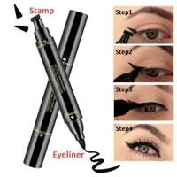 Winged Eyeliner Stamp Waterproof Makeup Cosmetic Eye Liner Pencil Black Liquid @