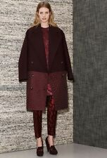 Stella McCartney Pre-Fall 2013 Burgundy Coat Size 36
