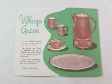 Red Wing Pottery Minnesota Village Green Advertising Brochure Catalog 1957 USA