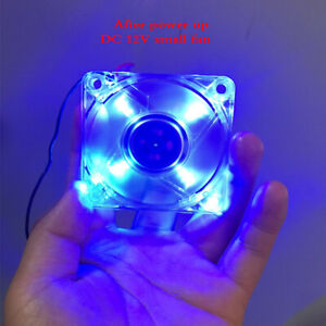 DC12V 0.45A 6012 small fan 60mm heat dissipation brushless fan with LED light