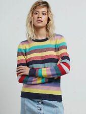 2017 NWT WOMENS VOLCOM GMJ CORE SWEATER $65 S multi-color striped