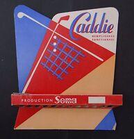 Ancien carton PLV Présentoir CADDIE SOMA écriture stylo plume pen crayon nibs