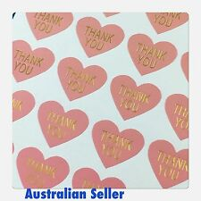 Thank You Heart Stickers 48 Stickers Australian Seller