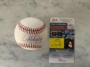 "Braves JOHN SMOLTZ Signed Official MLB Baseball AUTO Inscribed ""96 CY""  JSA"