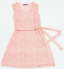 Apt. 9 Dress Woman's PM Petite Medium Pink Sleeveless Polyester V-Neck Spring