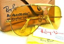 Ray-Ban USA *NOS Vintage B&L Aviator *Ambermatic Bravura General *NEW Sunglasses