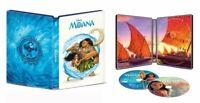 New Sealed Disney's Moana Steelbook 4K Ultra HD + Blu-ray + Digital Code