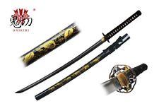 Onikiri Full Tang Blade Japanese Handmade Sword Samurai Katana Leaf Scabbard