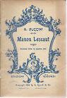 MANON LESCAUT - G. PUCCINI # LIBRETTO D'OPERA
