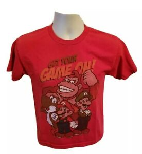 2012 Super Mario Get Your Game On Kids Size 10/12 Red TShirt