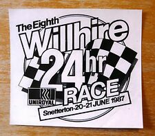 1987 The Eighth Willhire 24 hour Race Snetterton Motorsport Sticker Decal