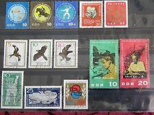 DDR Briefmarken 1965 Fünfkampf,Greifvögel,A.Schweitzer,Tierpark Berlin,EM Boxen
