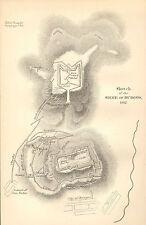 GUERRA D'INDIPENDENZA SPAGNOLA Mappa/piano di battaglia BATTAGLIA ~ Assedio di Burgos 1812 ~