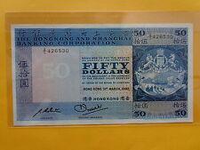 Hong Kong 50 Dollars 31st March 1982 (Choice UNC)