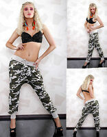 Sexy Women Camouflage Sweatpants Trousers Army Ladies Jeans Size 8 10 12 Pant S
