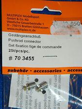 MULTIPLEX 703455 lot 2 TIGE de COMMANDE Gestängeanschluß mini PUSHROD CONNECTOR